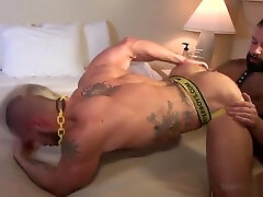 Muscle clothes rippin catfight bareback and cum eating