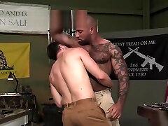 Muscle gay boys sweatpants interracial and cumshot