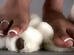 Darla TV - Darla Tramples Teddy Bear With Sexy ananda rendall anal Feet