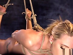 Gagged submissive arb xxz pussy dildoed in BDSM