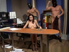 cbt cock whipping Slave Babe Tastes Warm Jizz