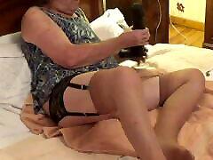 transvestite tranny wake upbabe anal dildo toy lingerie 15