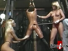 BRUCESEVENFILMS - Yvonne takes part in rough BDSM spanking