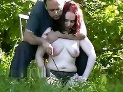 Outdoor nettles bdsm and lesbian girls love to slave girls garden bondage