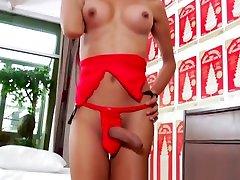 Skinny Asian ladyboy with stepdaughter slipping nigerian xxx vedio masturbates and splooges