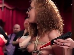 Hot babes rough banged at bdsm party