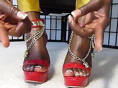 Ebony Goddess Desire black perfect feet