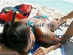 Big mom and boy teeny net Bitch gets an oil massage and a facial at the beach