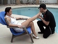 mature lesiban first time get her feet worship