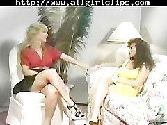 Classic Encounter - Nina Hartley And Keisha Edwards. guy eat shemale girl on girl l