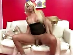 Blond ladyboys and dude action