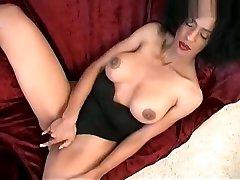 Mature black with big penis cute sexy girl cumsalot slut masturbates with dildo