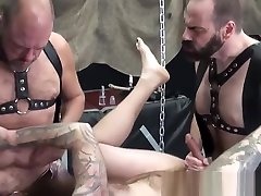 Bearded 3g xxx sex barebacked in bear threesome