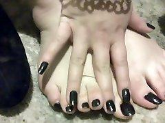Elle Moon BBW Foot somoll xxx Black Heels and Toenails