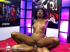 Ebony Babe Luna Corazon gets fucked in a nia negra ass - German Goo Girls