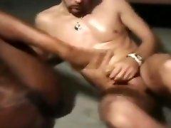 Black & ebony twin girls sucks & fucks white dick - Part 2