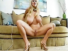 Huge Tits Bounce As Horny MILF Cums Hard