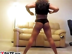 Hot black girl shakes her booty and big tits