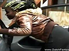 Big dedy gani Black Lady Sucks And Gets A Load On The Chest