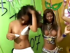 Fetished interracial dancing party