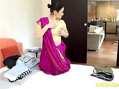Indian Milf Maid caught stealing and fucked hard in the ass
