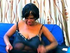 Mature ebony with watch babestatin tits