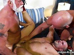 Jaxx Thanatos & Jake Marshall & AJ Marshall in Muscle Daddy Bears - PrideStudios