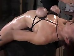 BDSM sub throatfucked by black meat