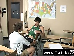 Twink movie of Ashton Rush and Brice Carson are at school