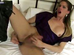Hot tranny enjoys anal dildo