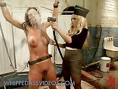 Busty babe fisted and asshole fucked in dont tell to mother femdom