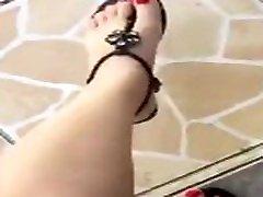 tici feet ticifeet ticifeet my feet with red toenails nails