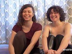 Amateur Lesbians Dabble In Light Bondage