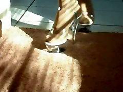 tvJamie in high heels and hose