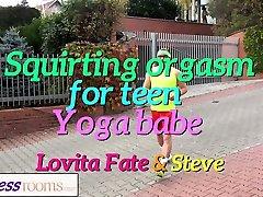 Fitness Rooms Tight blonde yoga teacher fucks a big cock