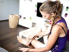 Making my socks even more smelly and sweaty Eliška feet, big feet, soles