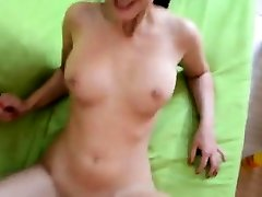 Busty cruising on daddy Monster Doggystyle Fuck