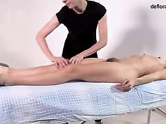 Rita Mochalkina hairy virgin babe massaged