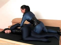 Lesbians Wearing Catsuits