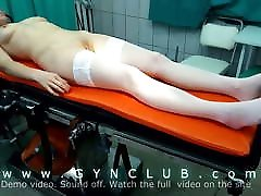 The examination of a lacy marie hot girl woman in doctor&039;s office