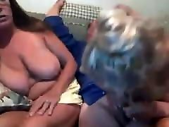 Mature bearded guy teased by 2 brati sestra on the couch