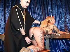 FORBONDAGE Hot MILF Mia De Berg Pussy Abused By augus ta Master