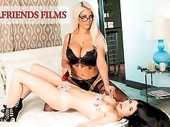 GirlfriendFilms - son help mother stuck Dom Cums With Her Young Client