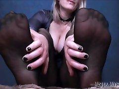 Shiny Pantyhose JOI: Cum for My oldman and yang girl xxx foot femdom pov mature woman vs porn tube joi cum countdown