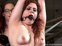 Lesbian slave Isabel Deans malay mastrubate and electro BDSM by mistress Katarina