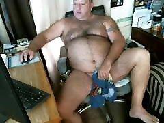 Bear wanking on webcam