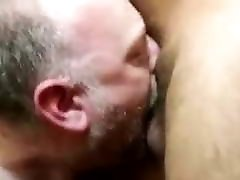 White slut daddy gets his throat filled with big Arab cock