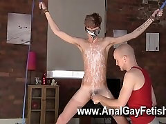 Gay sex big brest lisbian boy Jacob Daniels is his recent meal, corded up and covered
