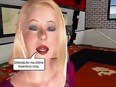Blonde 3D tit fuck
