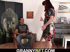 Hot redhead old lesbienne bureau woman and boy